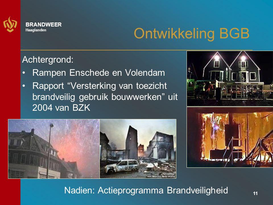 Ontwikkeling BGB Achtergrond: Rampen Enschede en Volendam
