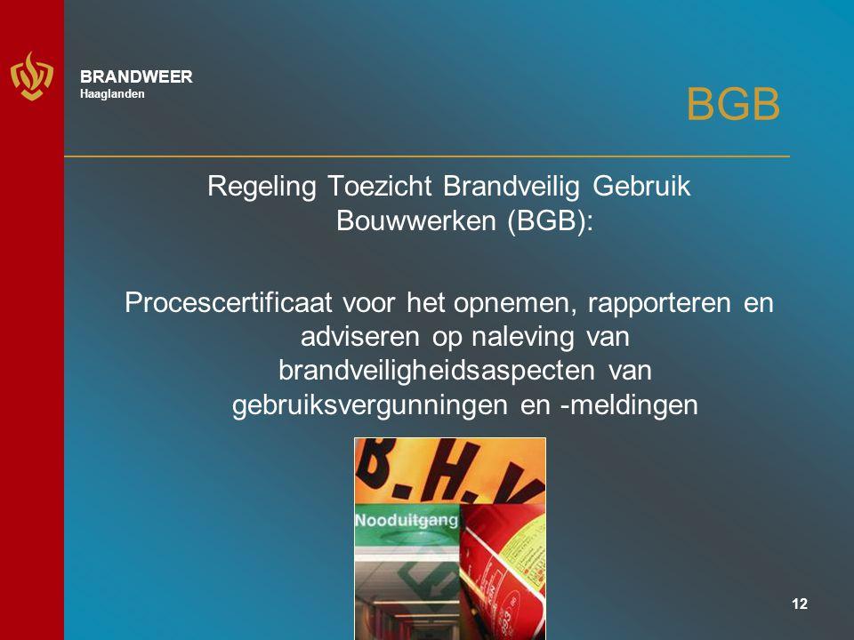 Regeling Toezicht Brandveilig Gebruik Bouwwerken (BGB):