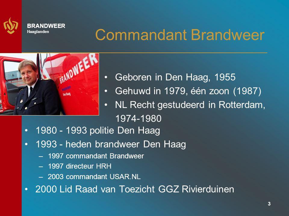 Commandant Brandweer Geboren in Den Haag, 1955