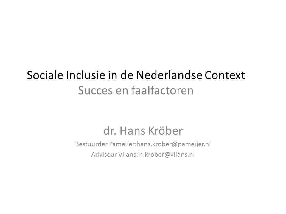 Sociale Inclusie in de Nederlandse Context Succes en faalfactoren
