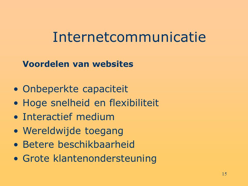 Internetcommunicatie