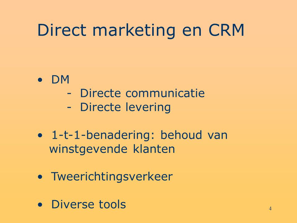Direct marketing en CRM
