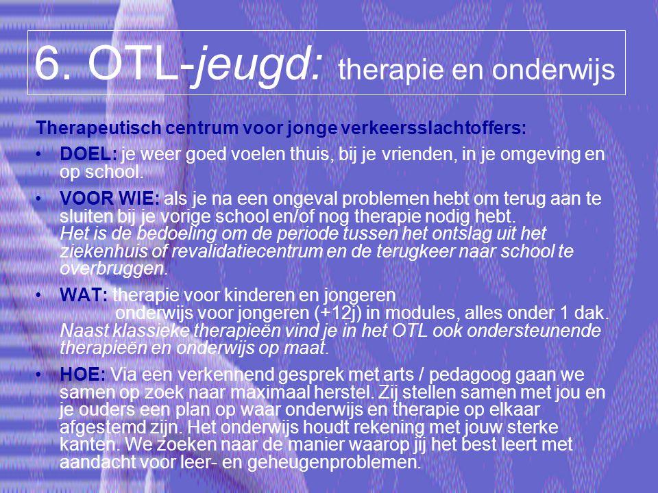 6. OTL-jeugd: therapie en onderwijs