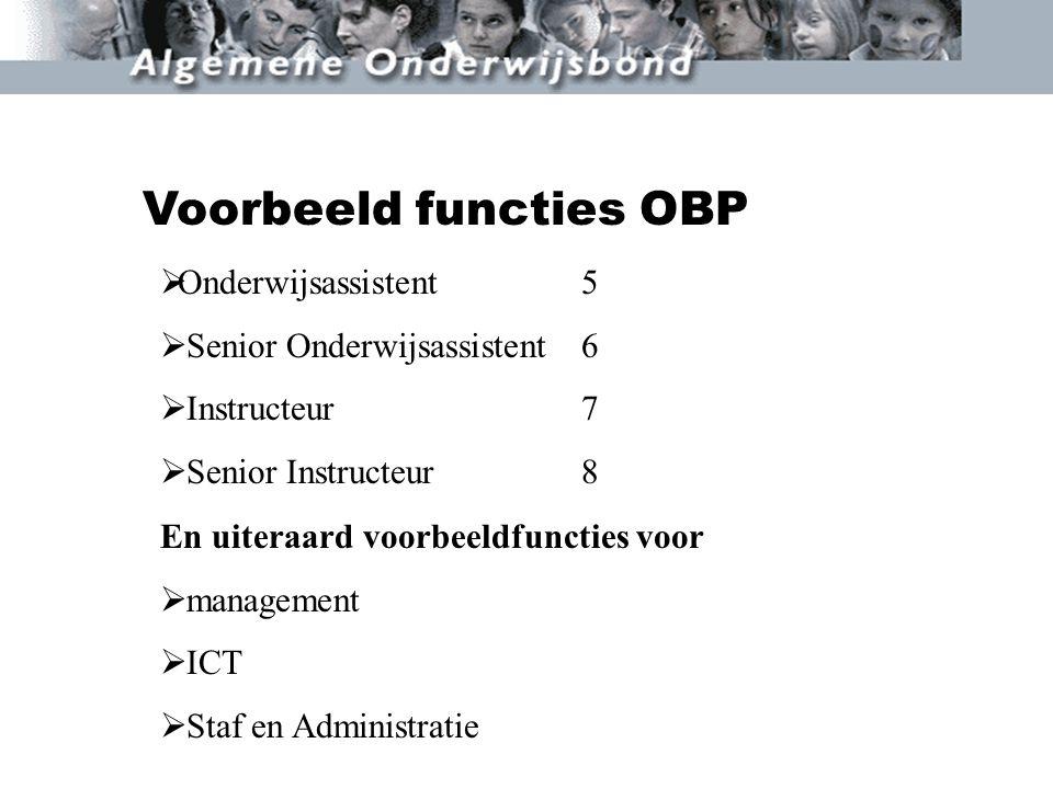 Voorbeeld functies OBP