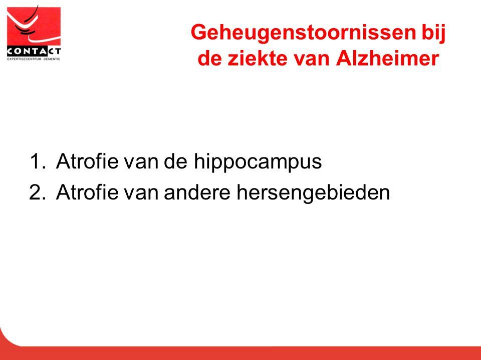 Geheugenstoornissen bij de ziekte van Alzheimer