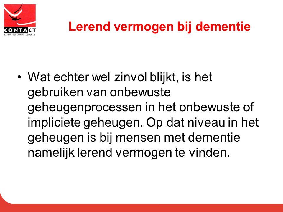 Lerend vermogen bij dementie
