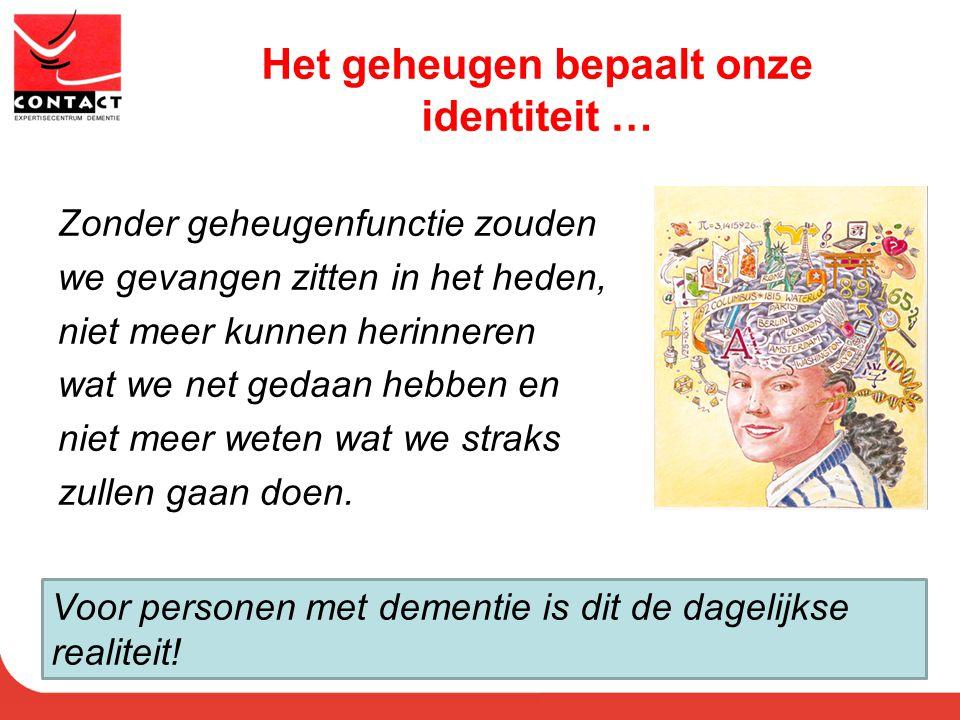 Het geheugen bepaalt onze identiteit …