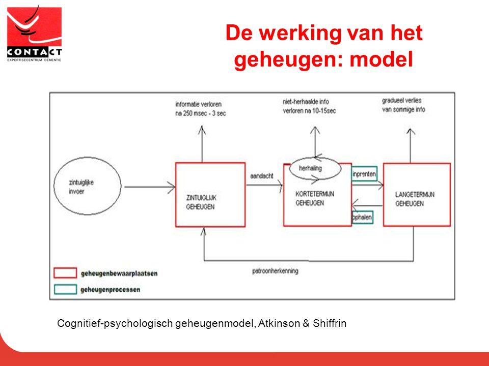 De werking van het geheugen: model
