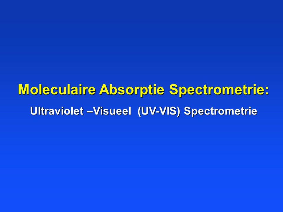 Moleculaire Absorptie Spectrometrie: