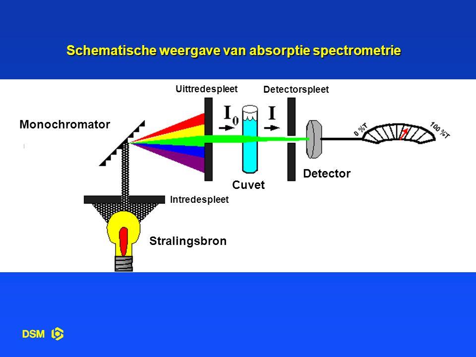 Schematische weergave van absorptie spectrometrie