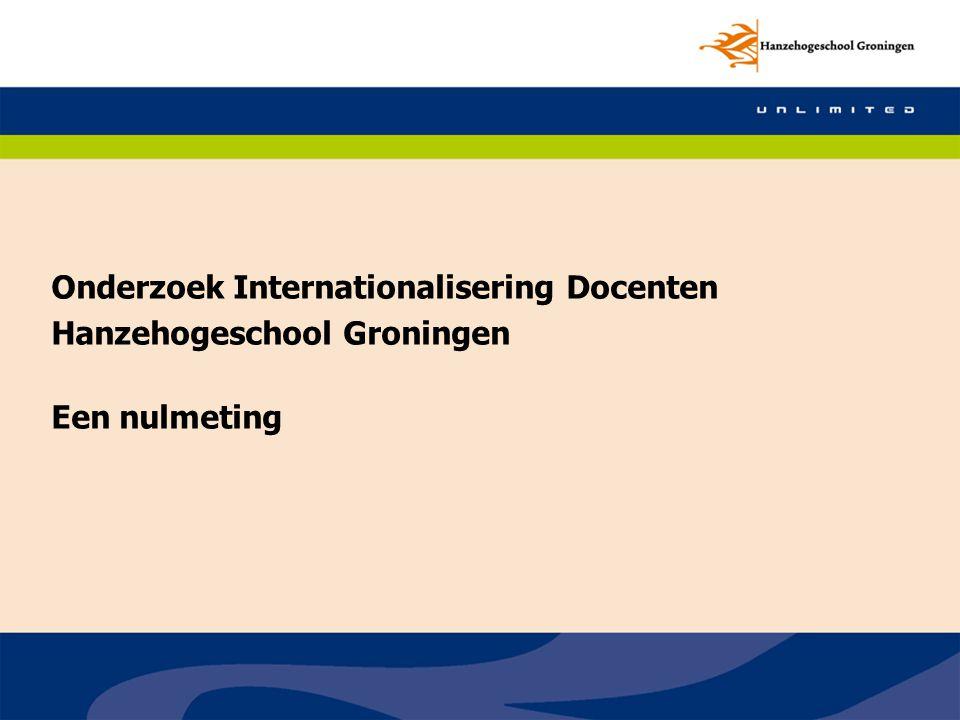 Onderzoek Internationalisering Docenten