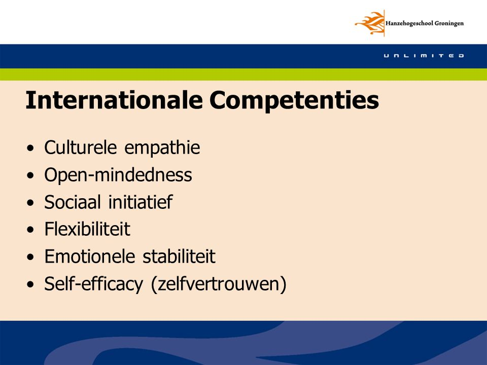 Internationale Competenties