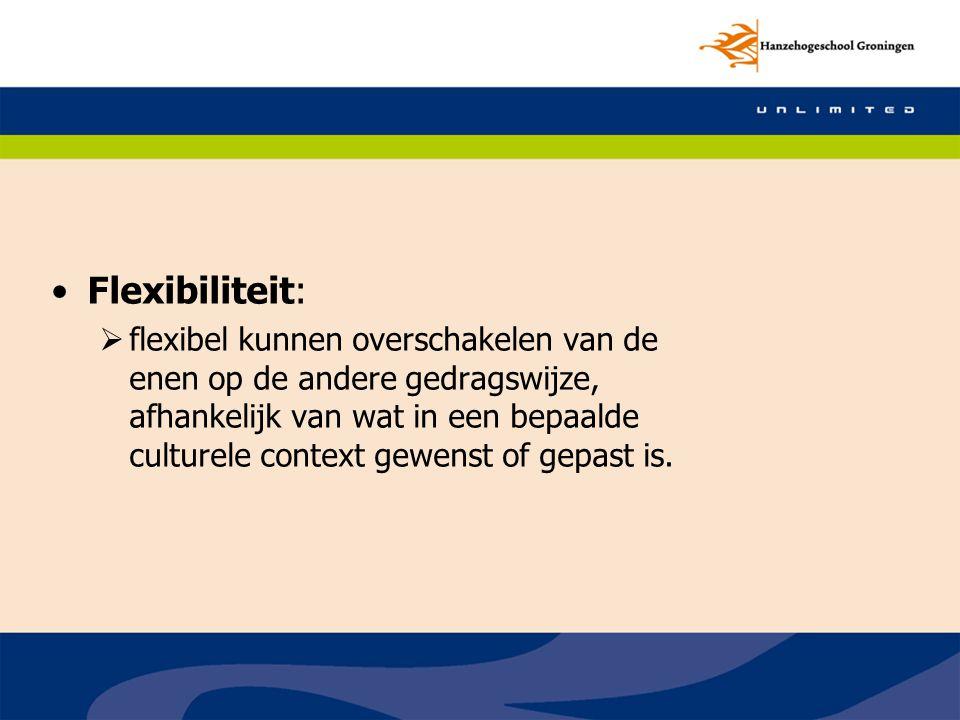 Flexibiliteit: