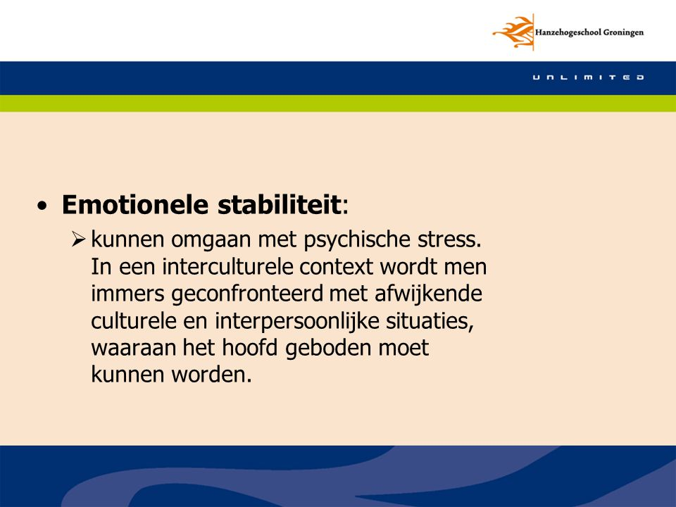 Emotionele stabiliteit: