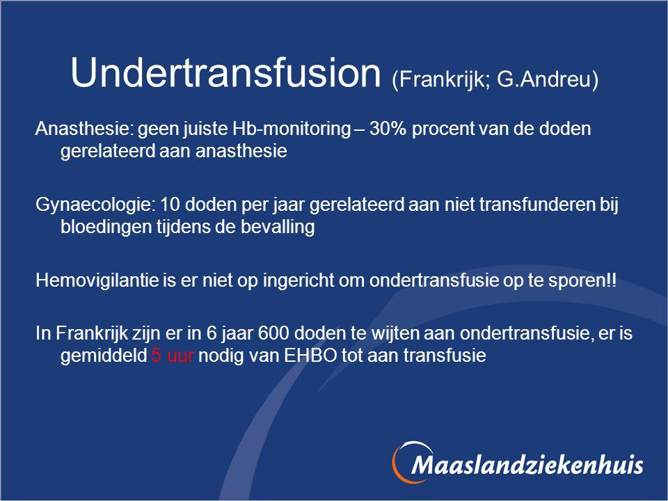 Undertransfusion (Frankrijk; G.Andreu)