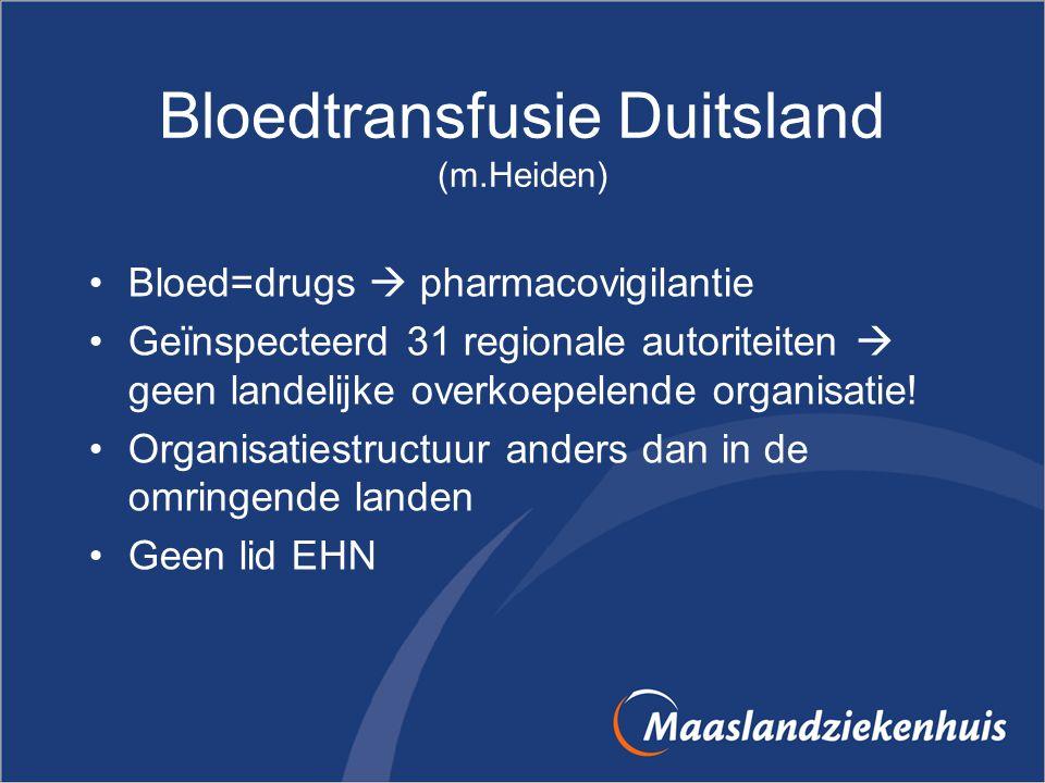 Bloedtransfusie Duitsland (m.Heiden)