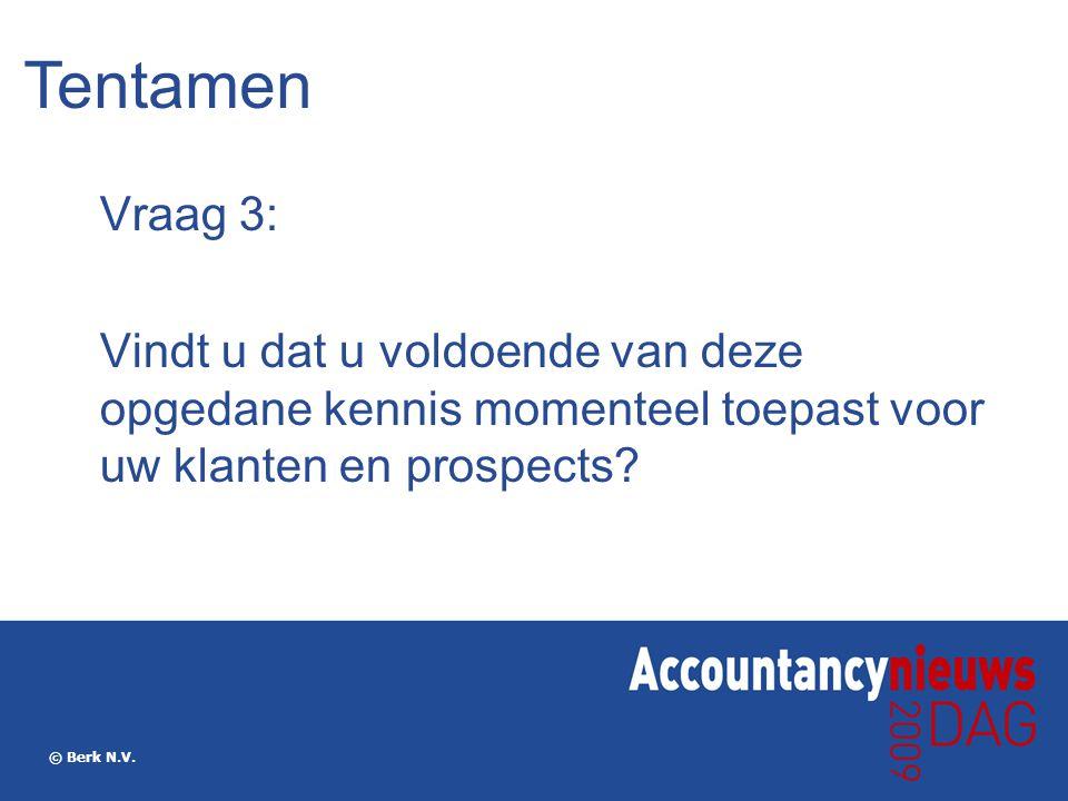 Tentamen Vraag 3: Vindt u dat u voldoende van deze opgedane kennis momenteel toepast voor uw klanten en prospects