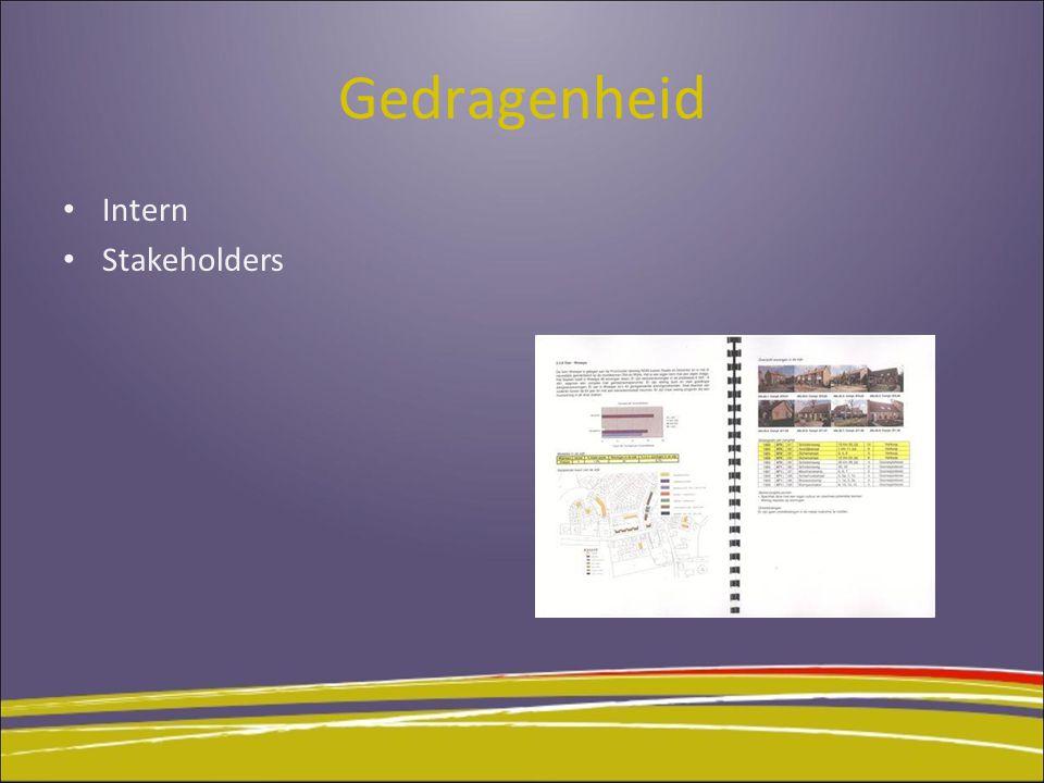 Gedragenheid Intern Stakeholders 11