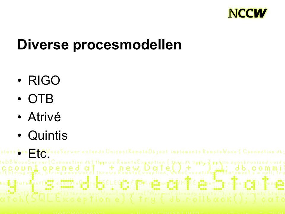 Diverse procesmodellen