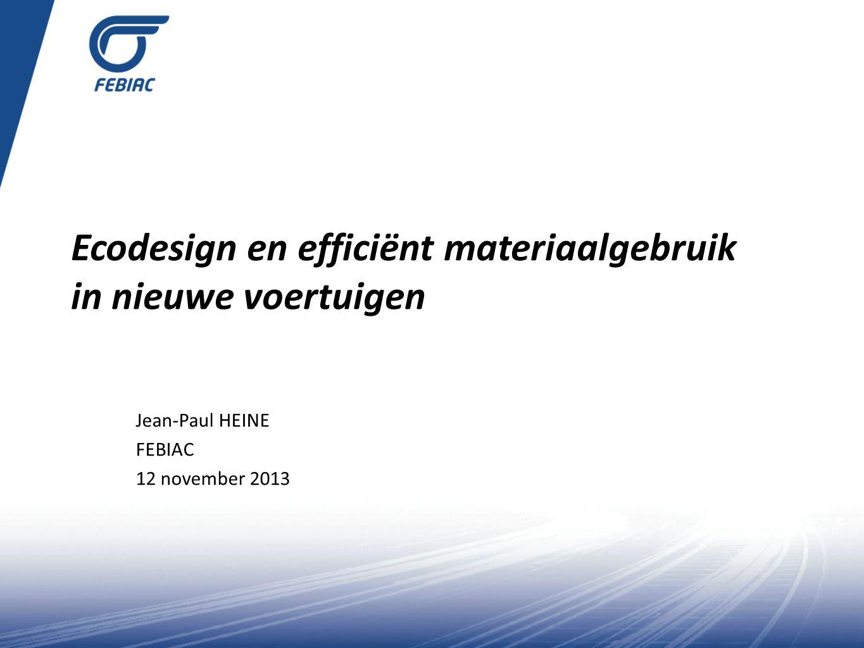 Ecodesign en efficiënt materiaalgebruik in nieuwe voertuigen