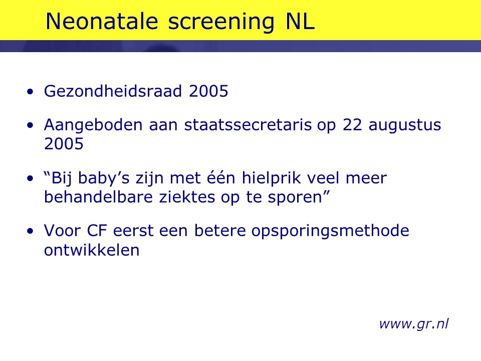 Neonatale screening NL