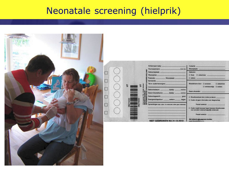 Neonatale screening (hielprik)