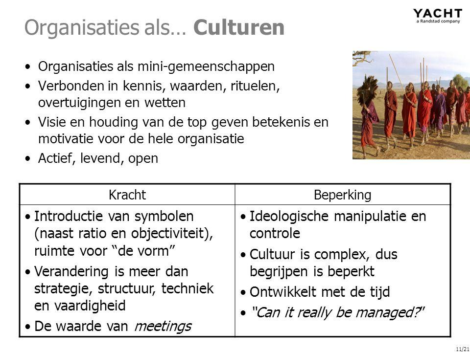 Organisaties als… Culturen