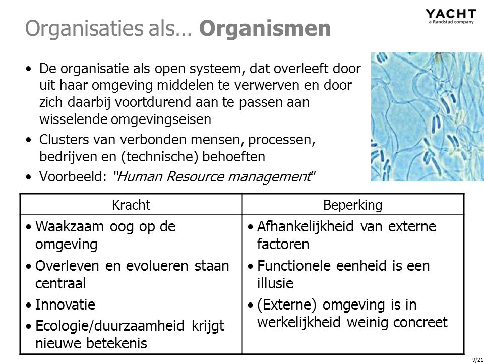 Organisaties als… Organismen