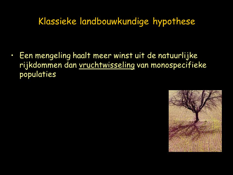 Klassieke landbouwkundige hypothese
