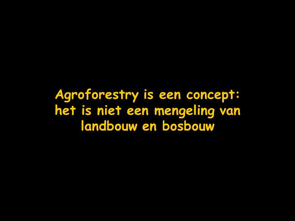 Agroforestry is een concept: het is niet een mengeling van landbouw en bosbouw