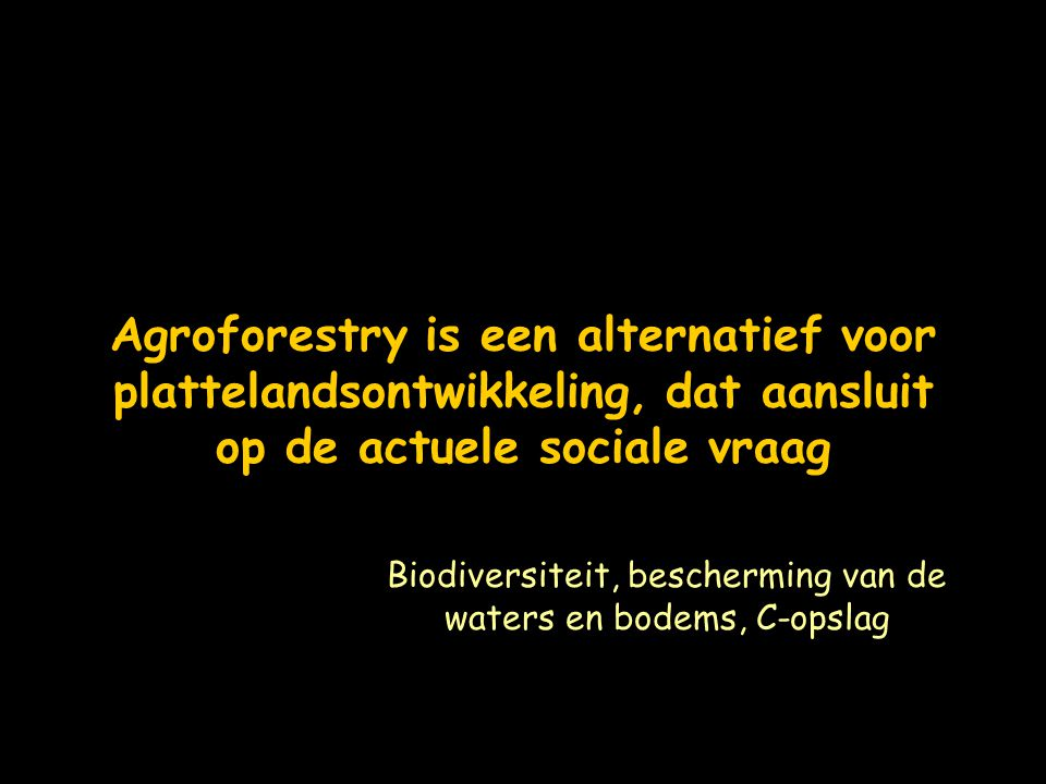 Biodiversiteit, bescherming van de waters en bodems, C-opslag