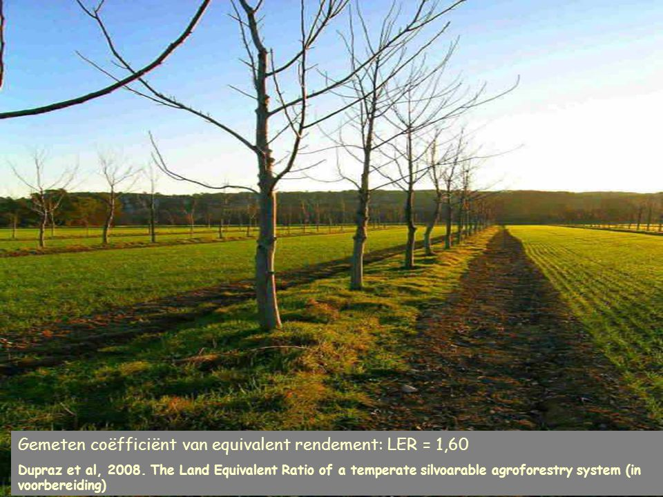 Gemeten coëfficiënt van equivalent rendement: LER = 1,60