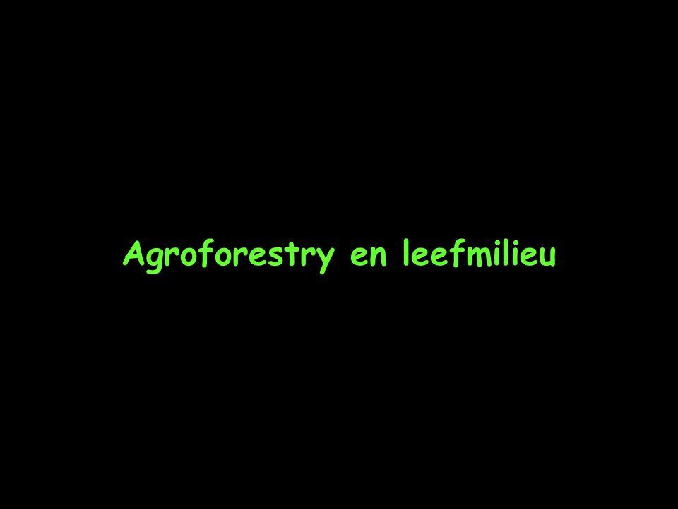 Agroforestry en leefmilieu