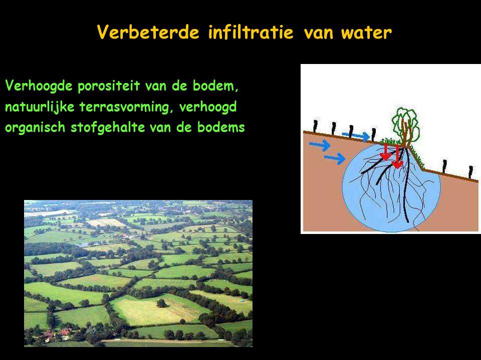 Verbeterde infiltratie van water