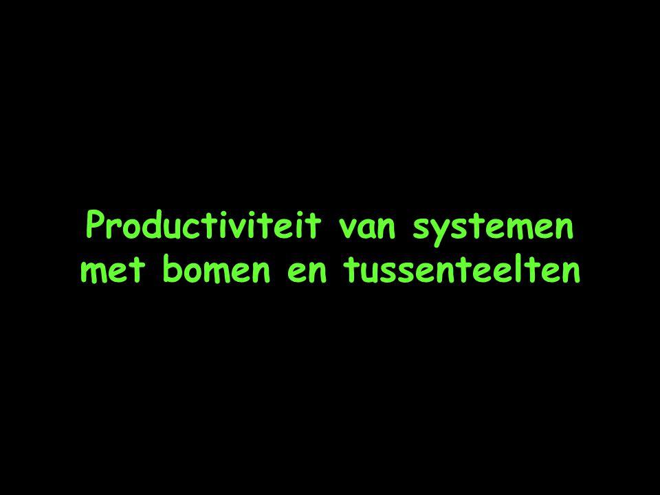 Productiviteit van systemen met bomen en tussenteelten