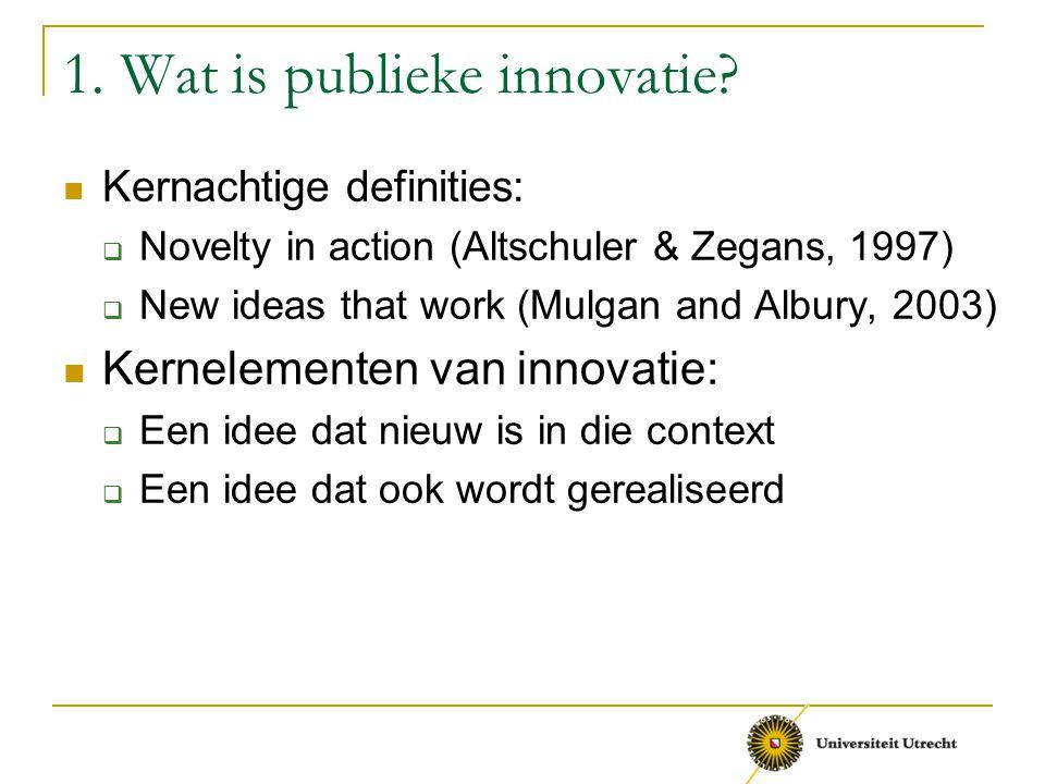 1. Wat is publieke innovatie