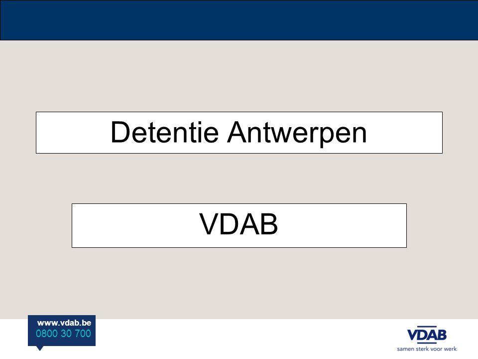 Detentie Antwerpen VDAB