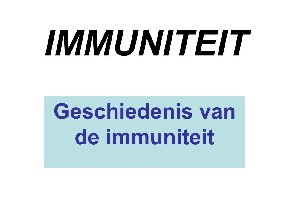 Geschiedenis van de immuniteit