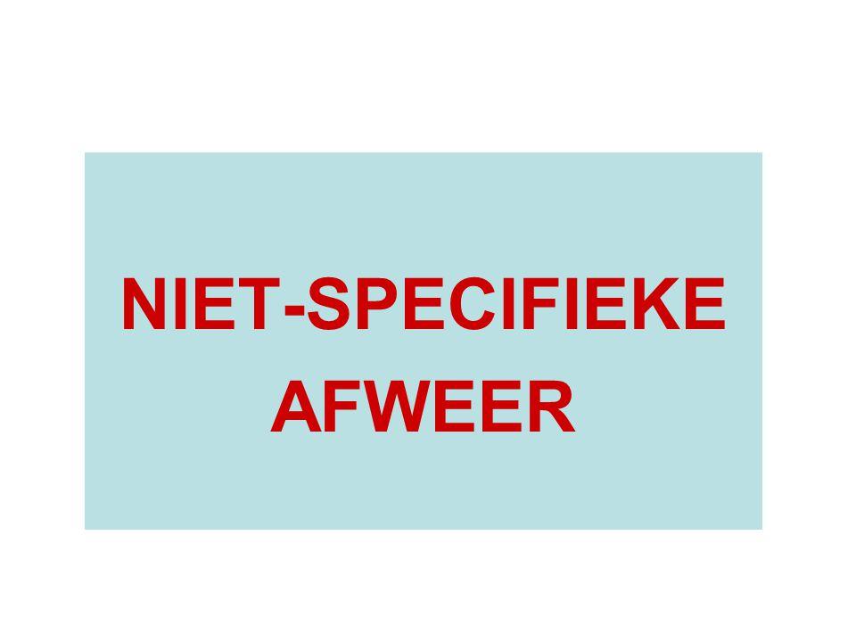NIET-SPECIFIEKE AFWEER