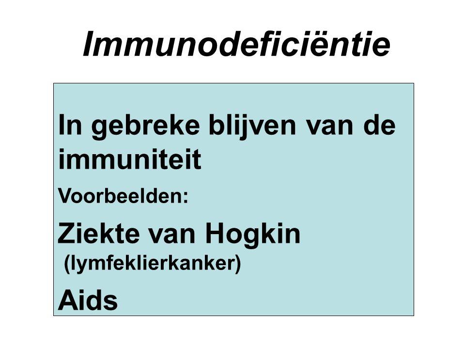 Immunodeficiëntie In gebreke blijven van de immuniteit