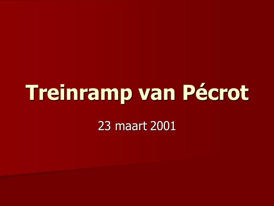 Treinramp van Pécrot 23 maart 2001