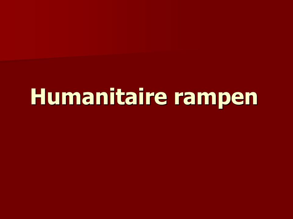 Humanitaire rampen