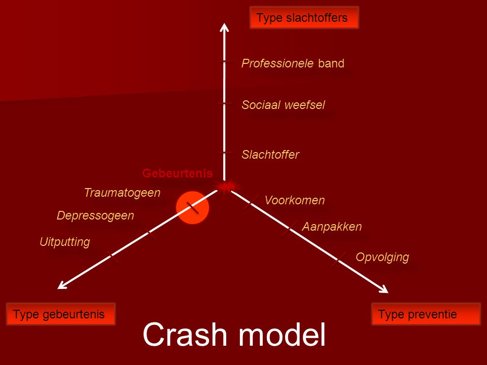 Crash model Type slachtoffers Professionele band Sociaal weefsel