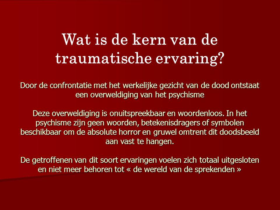 Wat is de kern van de traumatische ervaring