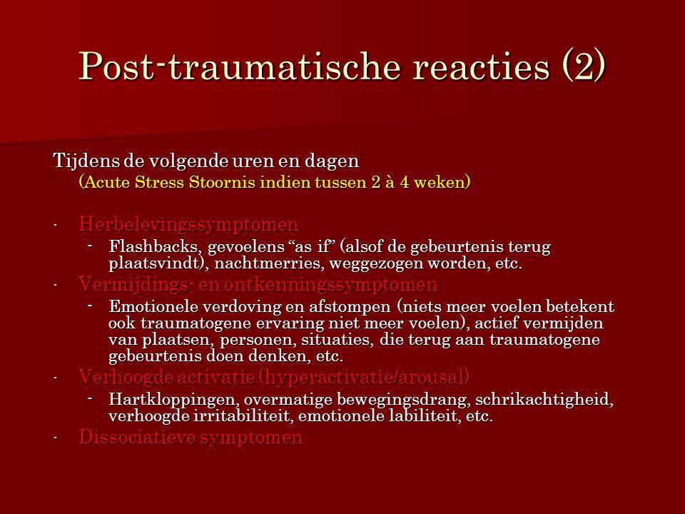 Post-traumatische reacties (2)