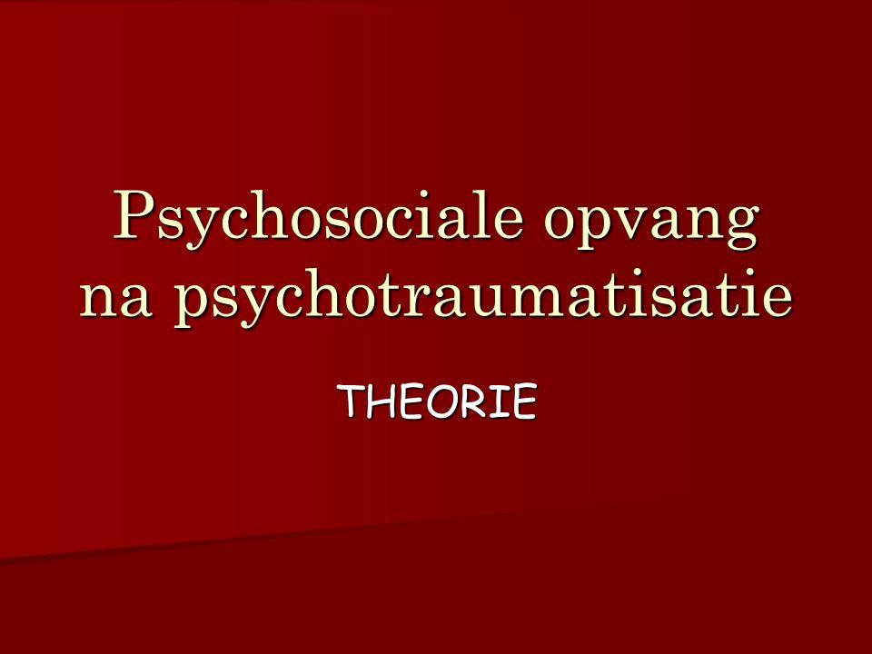 Psychosociale opvang na psychotraumatisatie