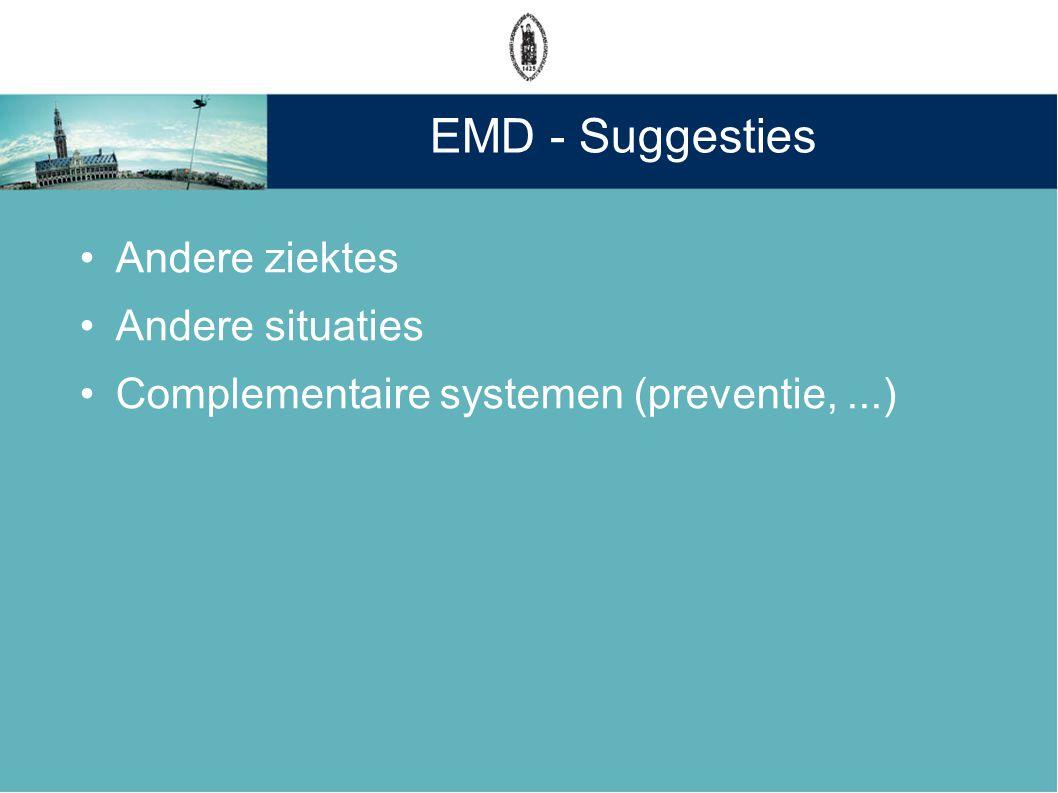 EMD - Suggesties Andere ziektes Andere situaties