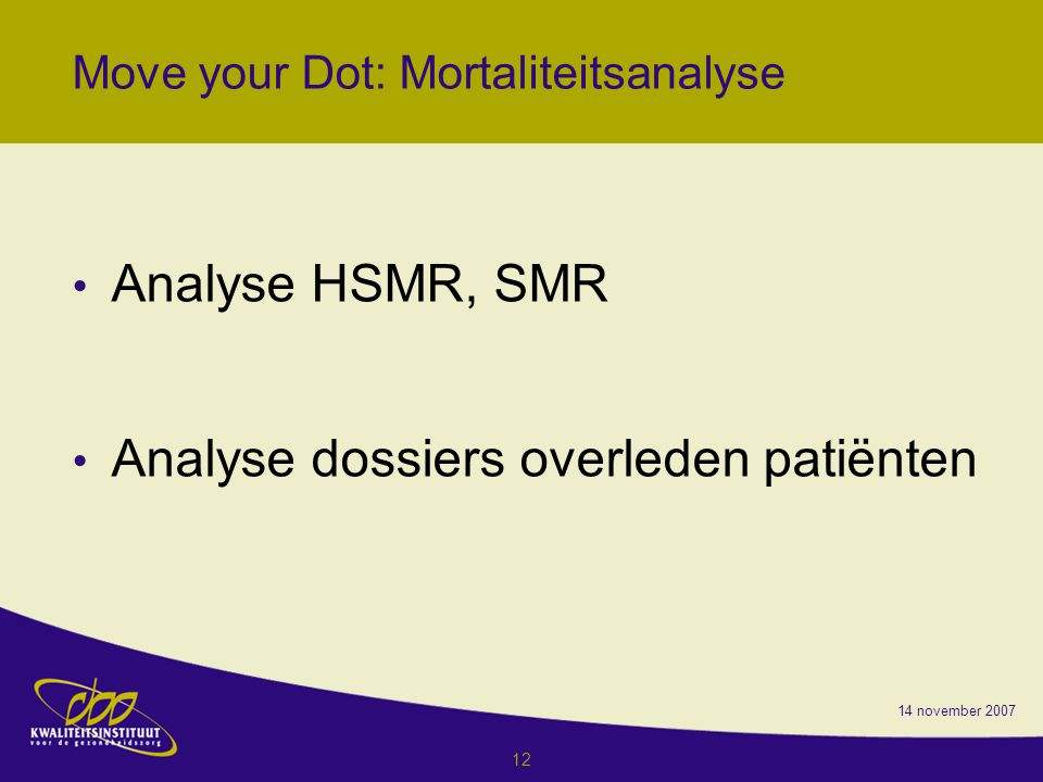 Move your Dot: Mortaliteitsanalyse