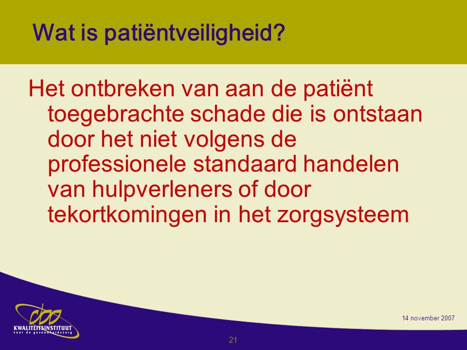 Wat is patiëntveiligheid