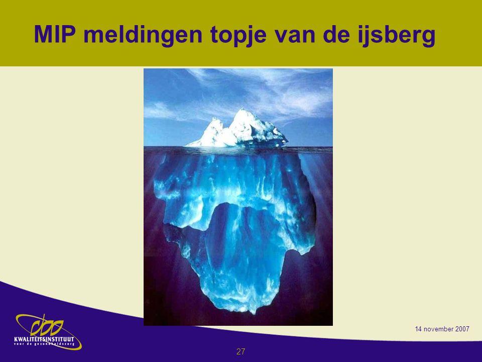 MIP meldingen topje van de ijsberg